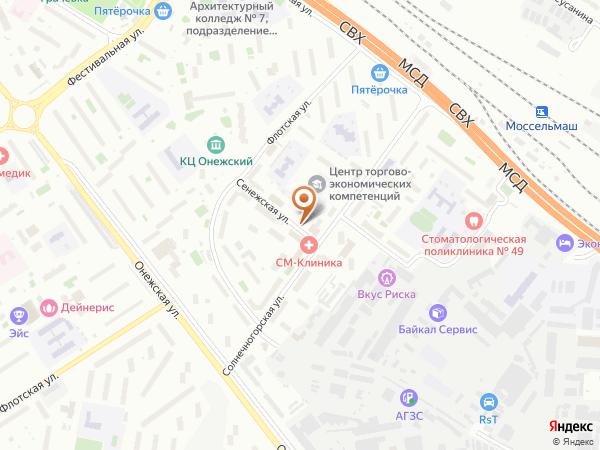 Остановка Сенежская ул.,1 - Торговое училище в Москве