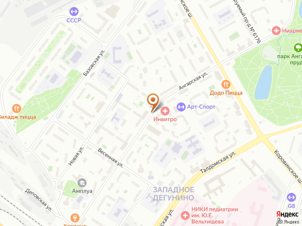 Остановка Мкр. Западное Дегунино в Москве