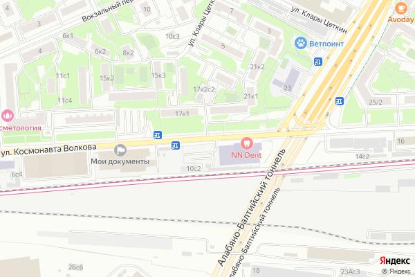 Ремонт телевизоров Улица Космонавта Волкова на яндекс карте