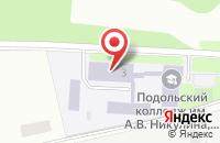 Схема проезда до компании Автошкола Федеральная в Подольске