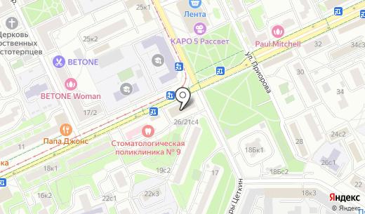 Volter. Схема проезда в Москве