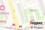 Схема проезда до компании Натяжные потолки Полежаевская в Москве