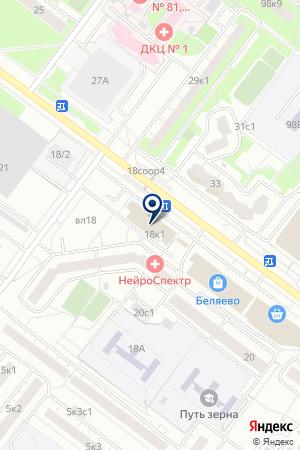 МАГАЗИН ОПТИКИ ЕДИНИЦА на карте Москвы