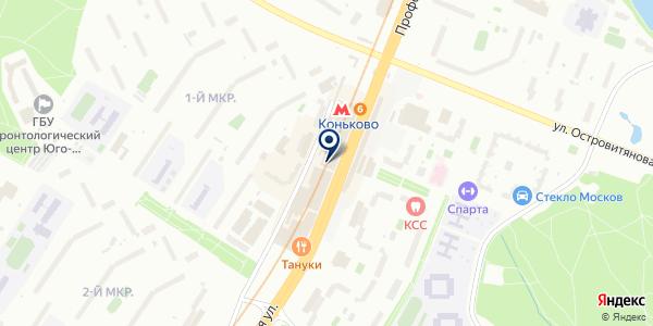 Аксиомус на карте Москве