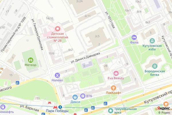 Ремонт телевизоров Улица Дениса Давыдова на яндекс карте