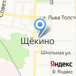 Комитет по управлению муниципальной собственностью на карте Щёкино