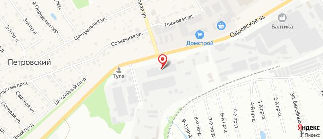 Карта расположения пункта доставки DPD Pickup в городе Тула