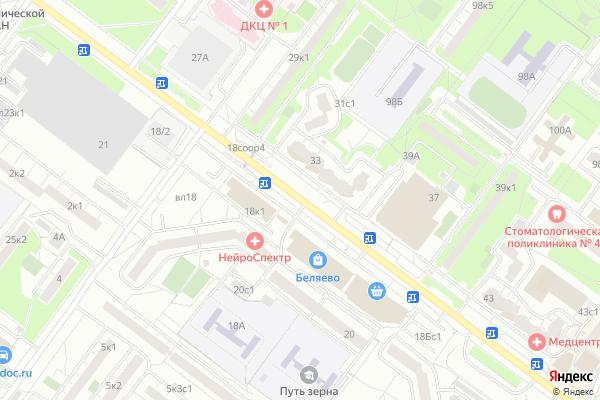 Ремонт телевизоров Улица Миклухо Маклая на яндекс карте