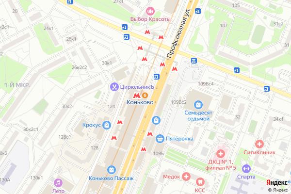 Ремонт телевизоров Метро Коньково на яндекс карте