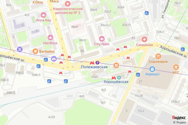 Ремонт телевизоров Метро Полежаевская на яндекс карте