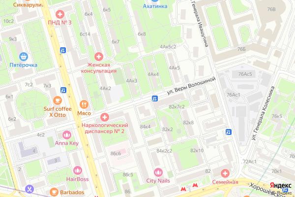 Ремонт телевизоров Улица Веры Волошиной на яндекс карте
