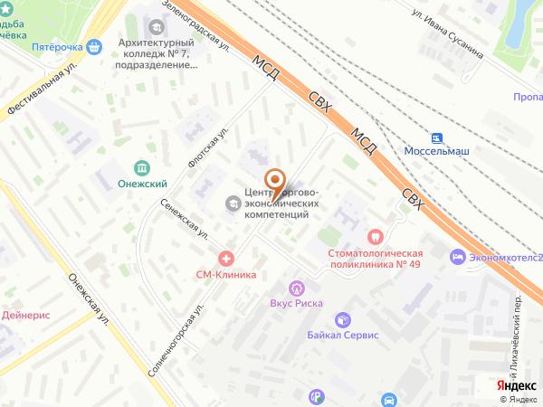 Остановка Солнечногорская ул.,15 - Торговое училище в Москве