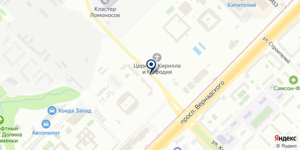Шиномонтажная мастерская на карте Москве