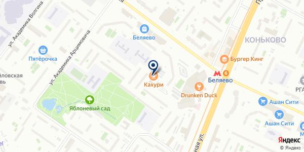 Евалайн на карте Москве