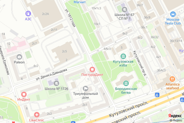 Ремонт телевизоров Улица 1812 года на яндекс карте