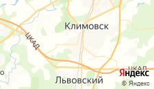 Гостиницы города Климовск на карте