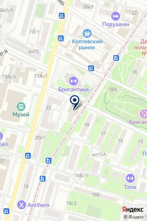 ПРОДОВОЛЬСТВЕННЫЙ МАГАЗИН МАГНИТ на карте Москвы