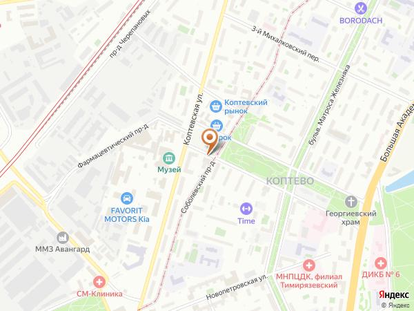 Остановка Коптевский рынок в Москве
