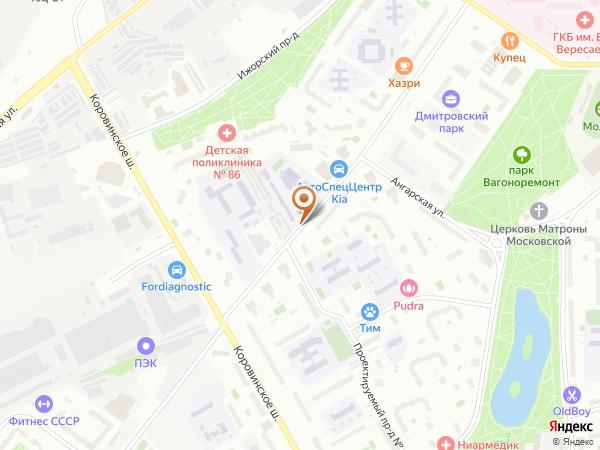 Остановка Учебный центр в Москве
