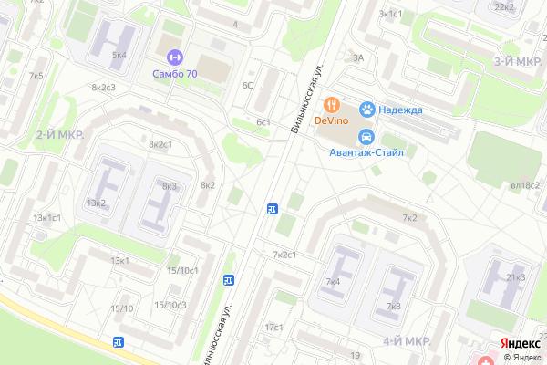 Ремонт телевизоров Улица Вильнюсская на яндекс карте