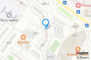 Снять однокомнатную квартиру в Москве м. Беляево, улица Миклухо-Маклая, 22