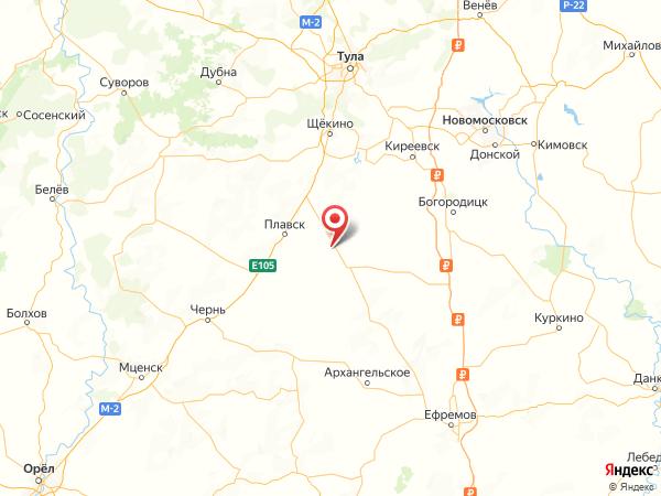 деревня Малая Красавка на карте