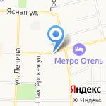 Магазин хлебобулочных изделий на карте Щёкино