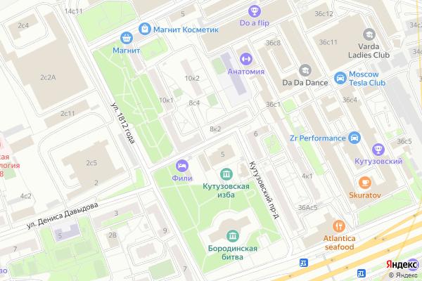 Ремонт телевизоров Кутузовский проезд на яндекс карте