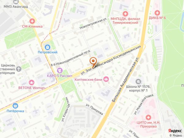 Остановка Управа района Коптево в Москве