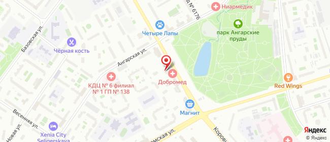 Карта расположения пункта доставки Москва Коровинское в городе Москва