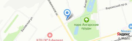 Мастерская по ремонту одежды на Ангарской на карте Москвы