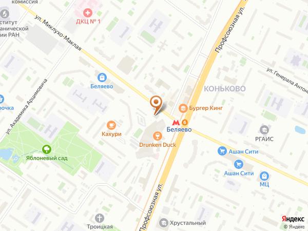 Остановка Метро Беляево (к/ст) в Москве