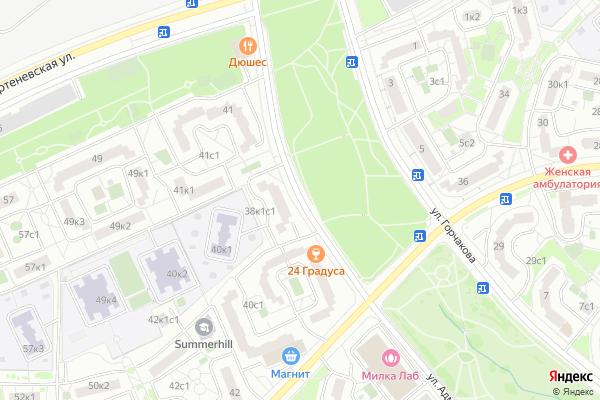 Ремонт телевизоров Улица Адмирала Руднева на яндекс карте