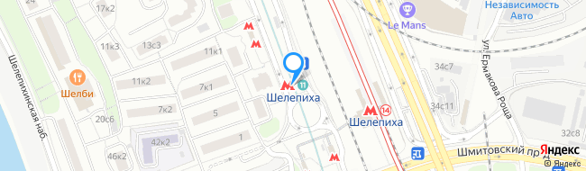 метро Шелепиха