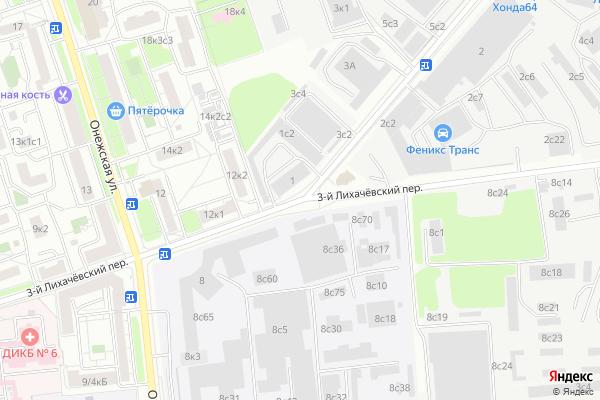 Ремонт телевизоров 3 й Лихачевский переулок на яндекс карте