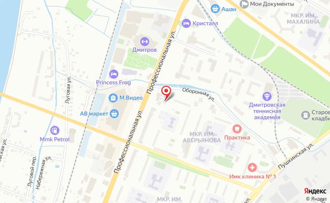 Карта расположения пункта доставки Пункт выдачи в городе Дмитров