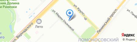 Анигел на карте Москвы
