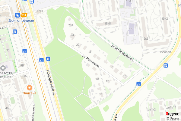 Ремонт телевизоров Улица Мичурина на яндекс карте