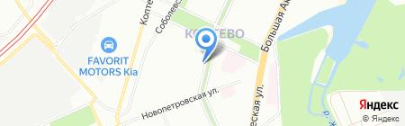 А и В на карте Москвы