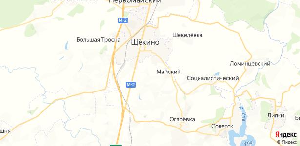 Нагорный на карте