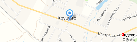 Магазин продуктов на карте Хрущёво