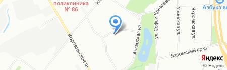 Замки-САО на карте Москвы