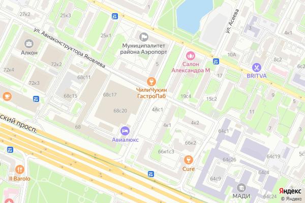 Ремонт телевизоров Улица Лизы Чайкиной на яндекс карте