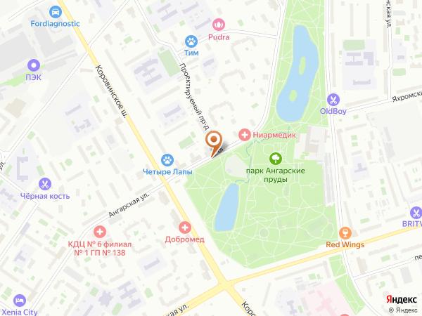 Остановка Ангарская ул. в Москве