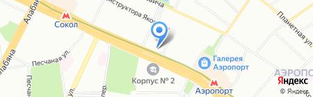 Дековер на карте Москвы