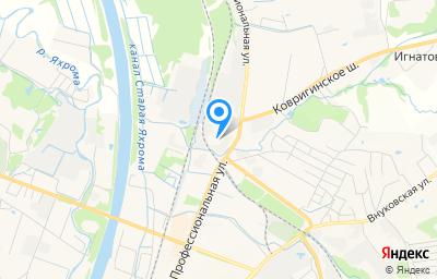 Местоположение на карте пункта техосмотра по адресу Московская обл, г Дмитров, ул Профессиональная, д 107А