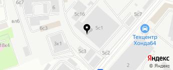 СТ Сервис на карте Москвы