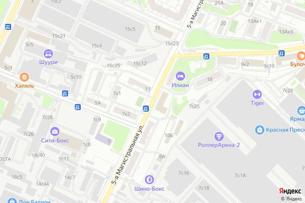 Ремонт телевизоров Улица 5 я Магистральная на яндекс карте