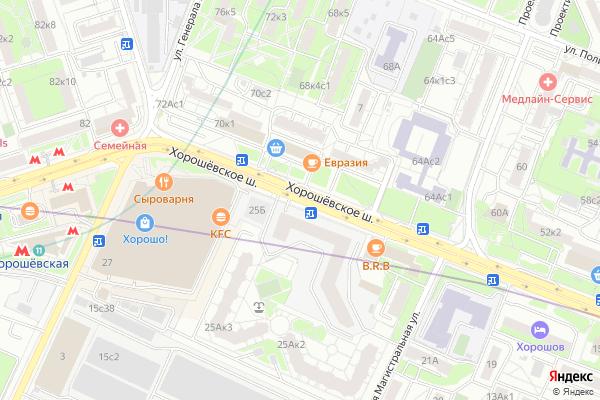 Ремонт телевизоров Хорошевское шоссе на яндекс карте
