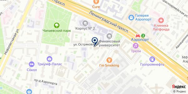 Научно-Исследовательский Институт Жилищно-Коммунального Хозяйства, АНО ДПО на карте Москве
